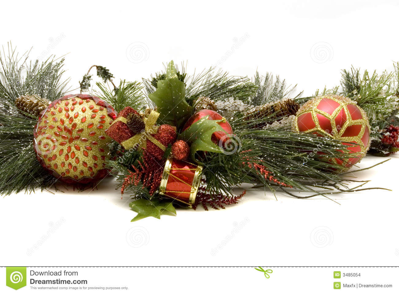 Beautiful Christmas Ornaments Stock Photo - Image: 3485054