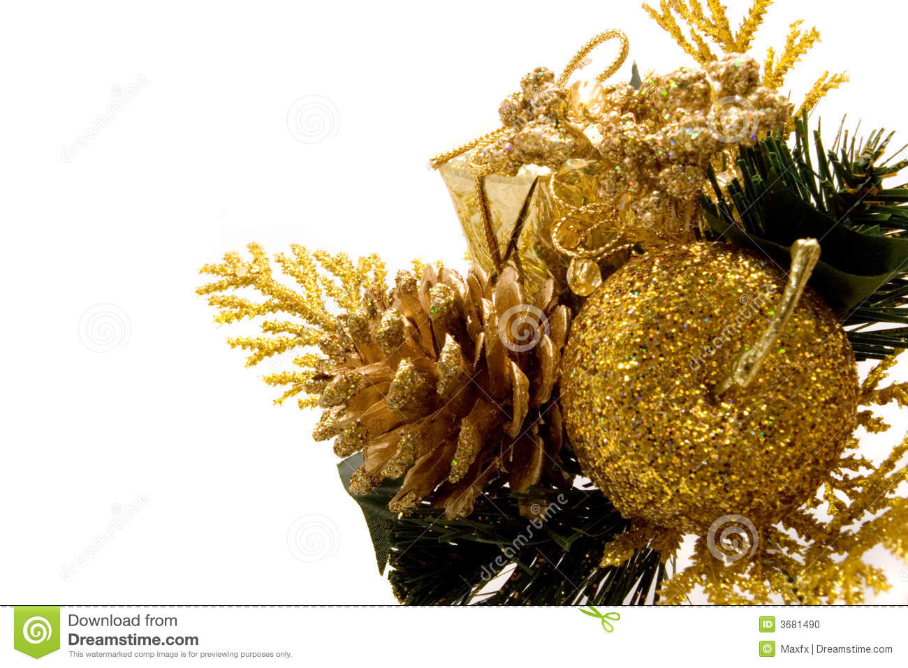 Beautiful Christmas Ornaments Stock Photo - Image of ...