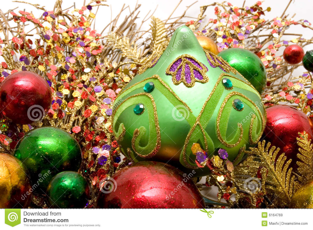 Beautiful Christmas Ornaments Royalty Free Stock Images ...