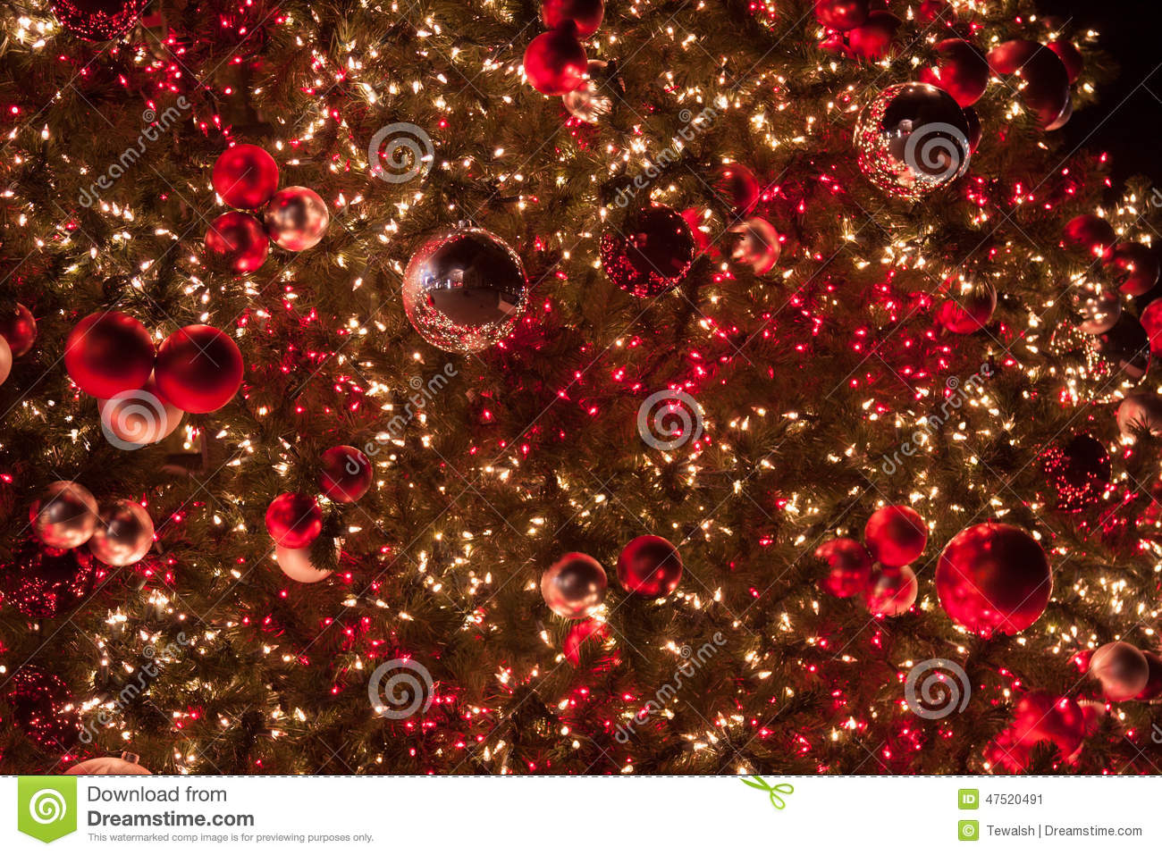 Beautiful Christmas Ornaments beautiful christmas ornaments and lights stock photo - image: 47520491