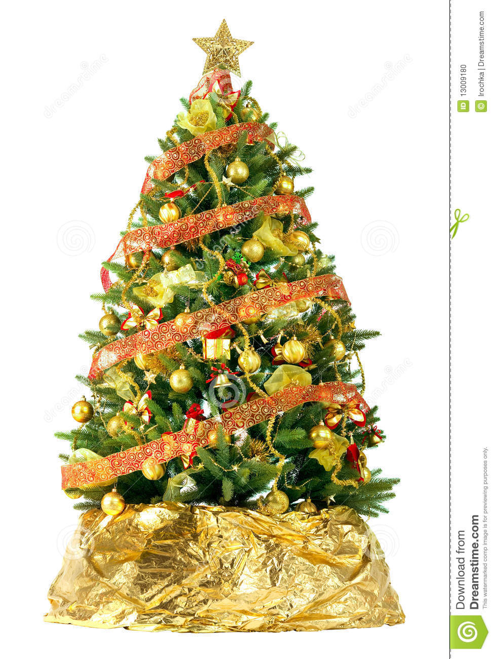 Beautiful Christmas Tree Stock Photo Image 13009180