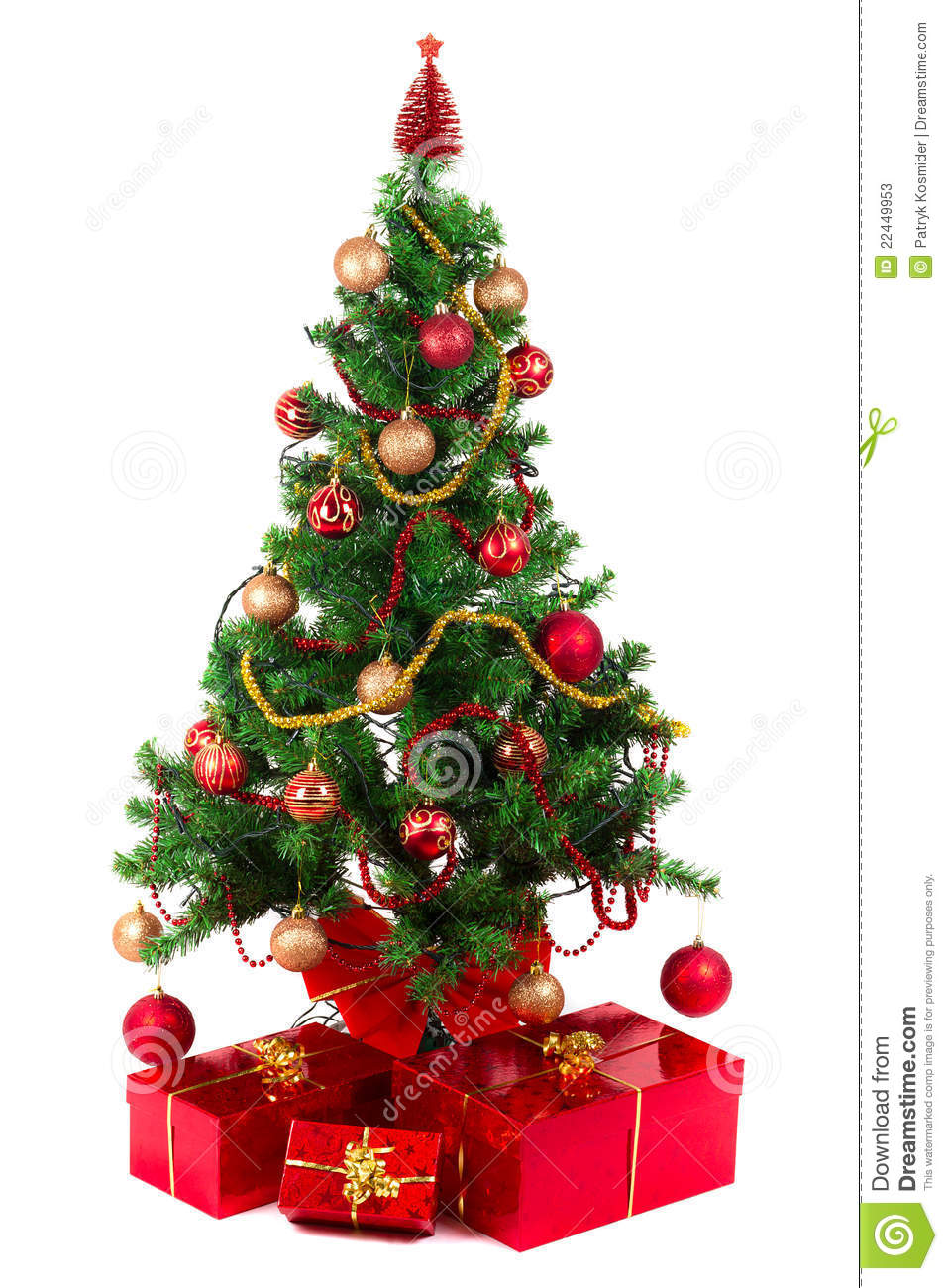 Beautiful Christmas Tree Stock Photos Image 22449953
