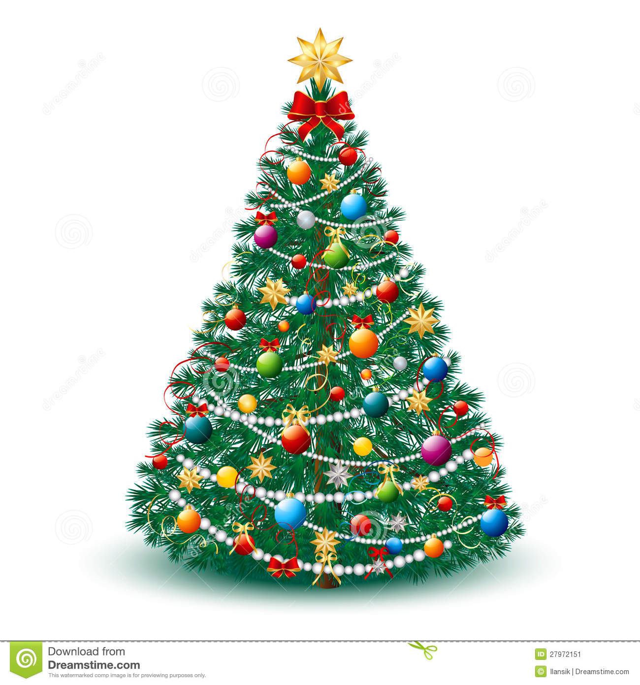 Beautiful Christmas Tree Eps 10 Stock Image Image 27972151