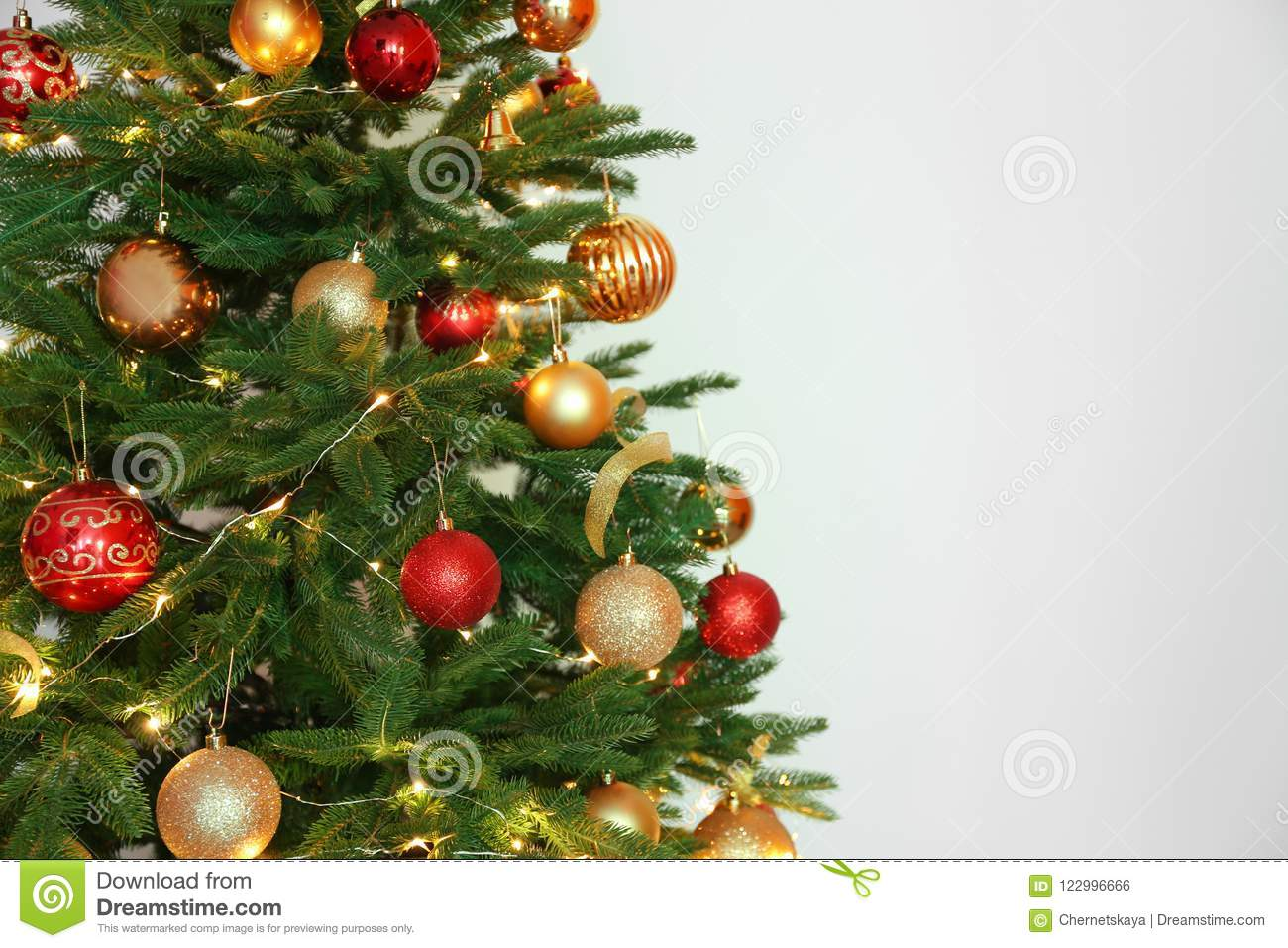 download beautiful christmas tree with fairy lights stock photo image of beautiful christmas
