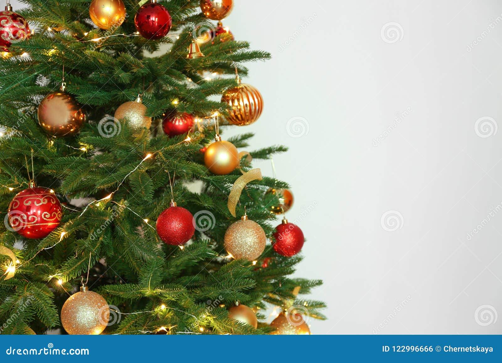 download beautiful christmas tree with fairy lights stock photo image of beautiful christmas