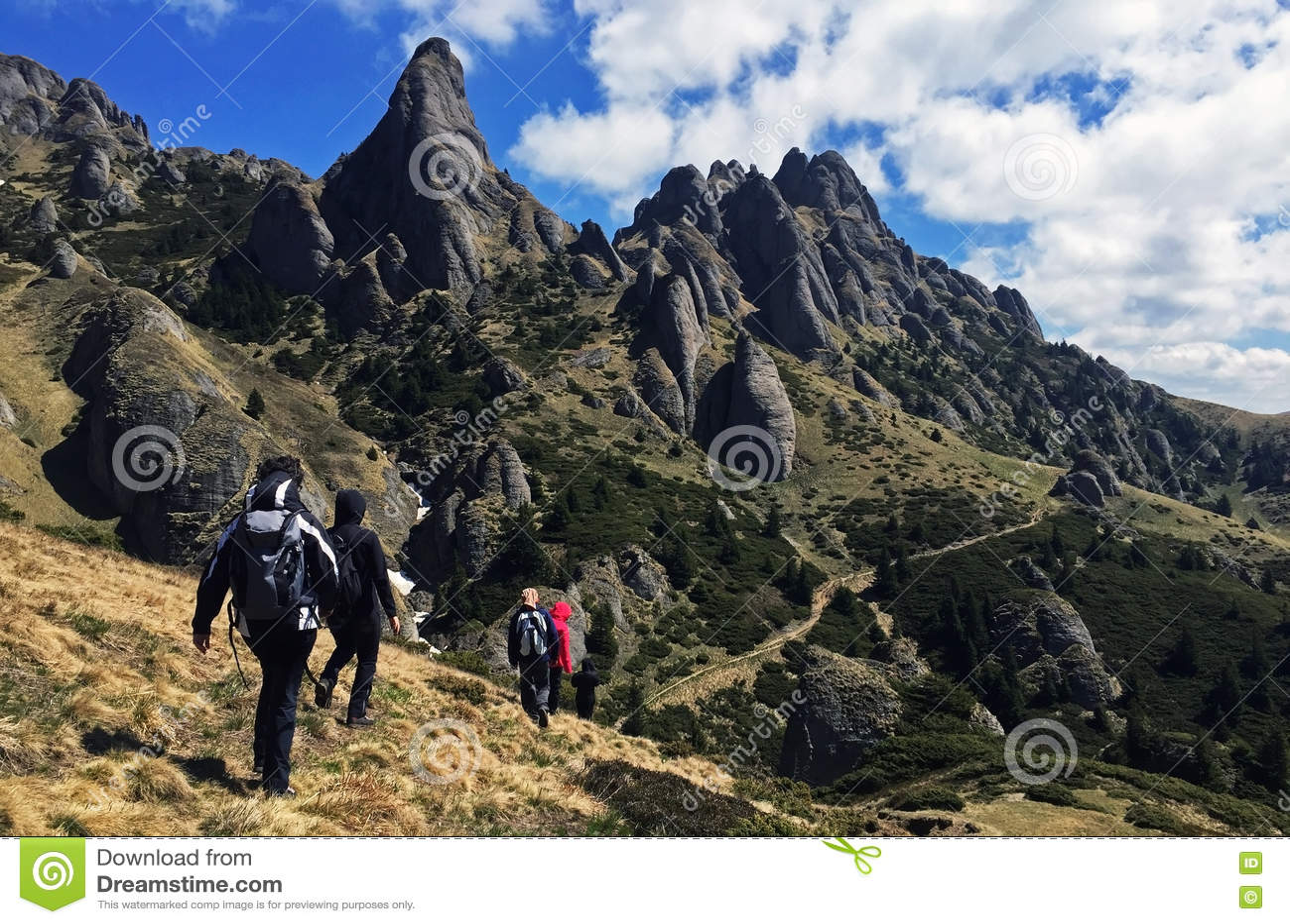 The beautiful Ciucas mountains in Romania