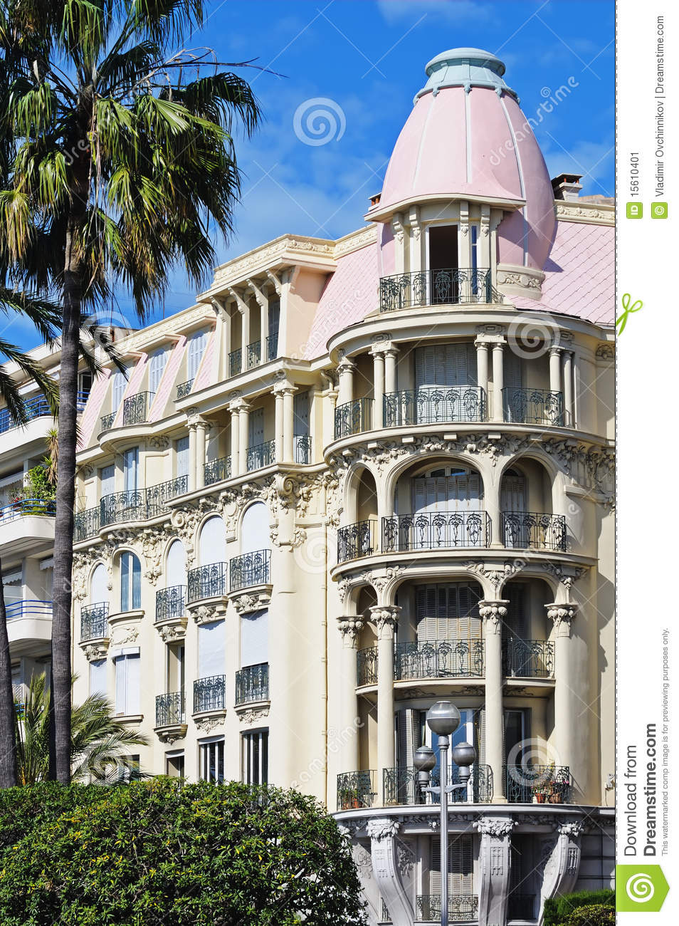 Beautiful Classic Style Apartments In Nice, France Stock ...