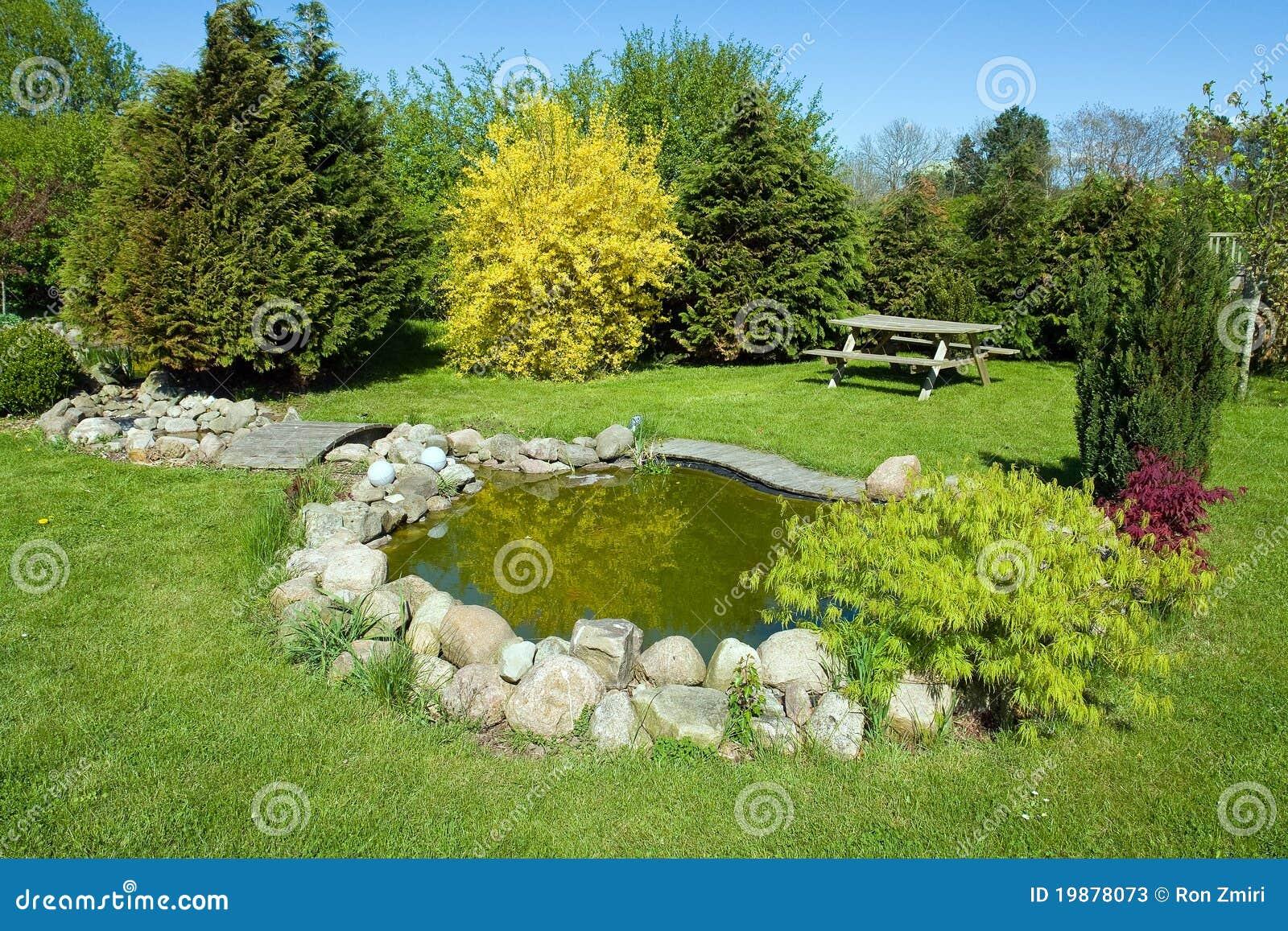 Beautiful Classical Garden Fish Pond Stock Photos Image