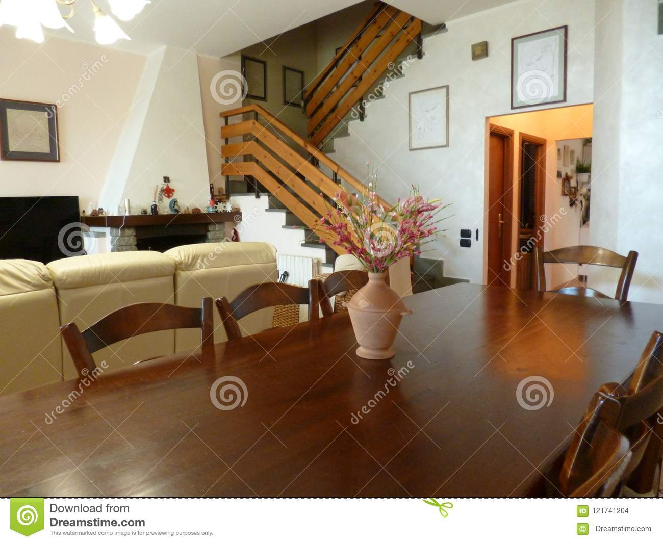 Iving Room In Italian Style. Italy. Tuscany Stock Photo ...