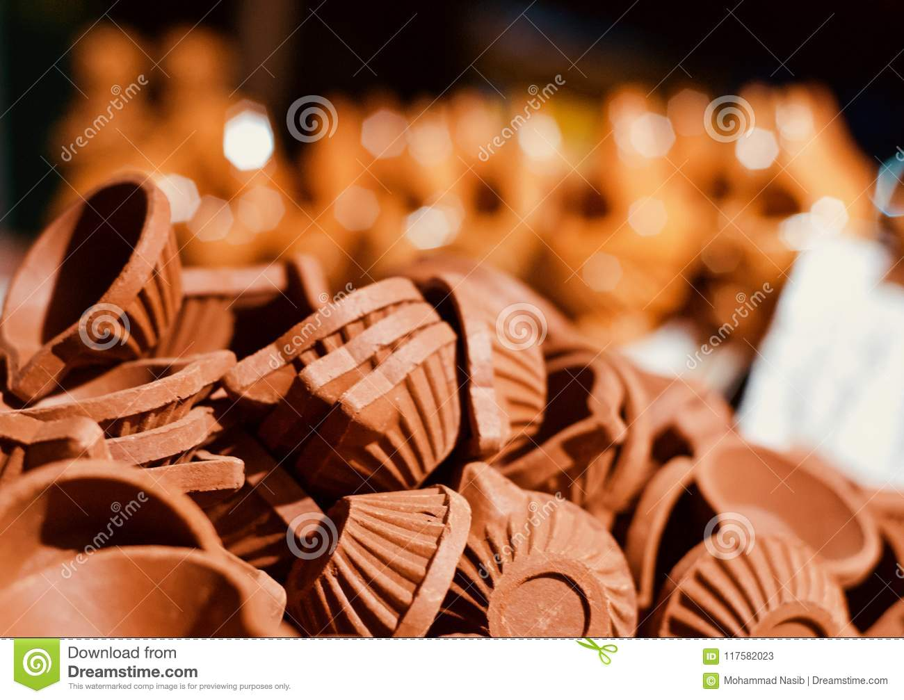 Download Beautiful Clay Made Pottery Objects In A Stack Unique Photo Stock Image - Image of creative, business: 117582023