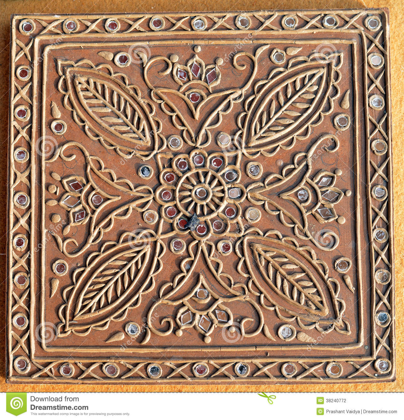 Beautiful Clay Work Handmade Design Stock Photography