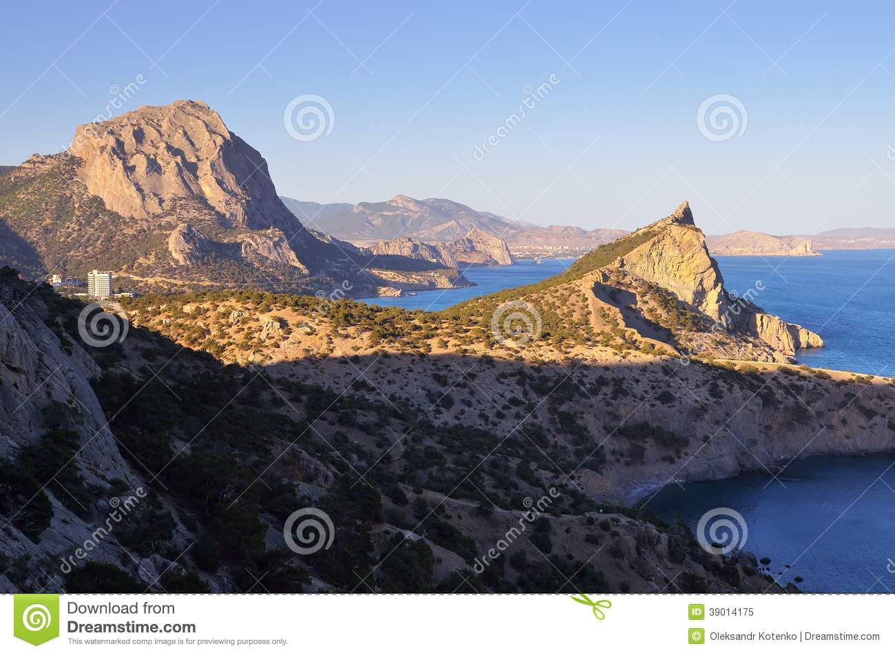 Beautiful cliff over the sea stock photo image 39014175 for Landscaping rocks sunshine coast