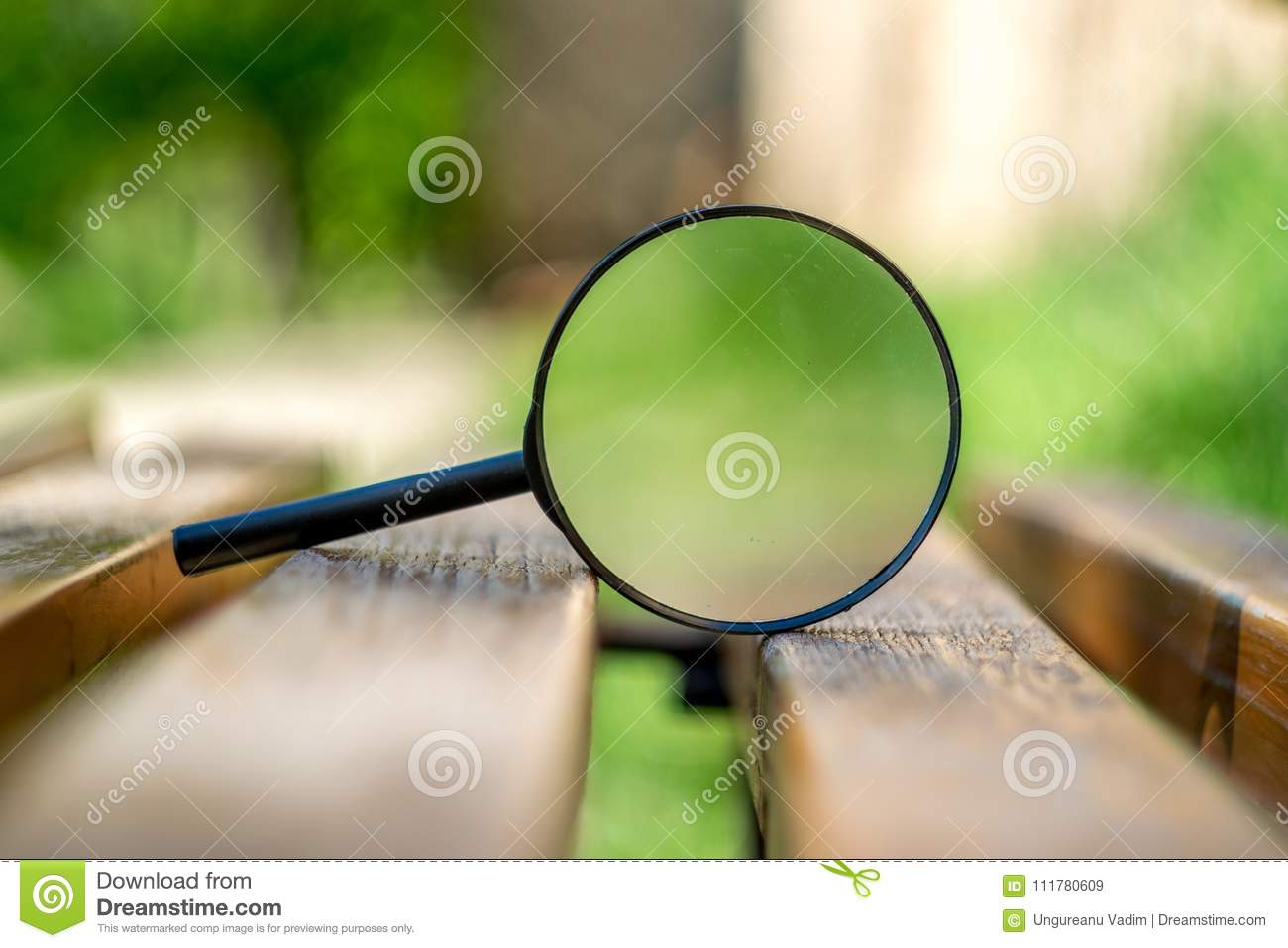 Beautiful close up on a magnifying glass