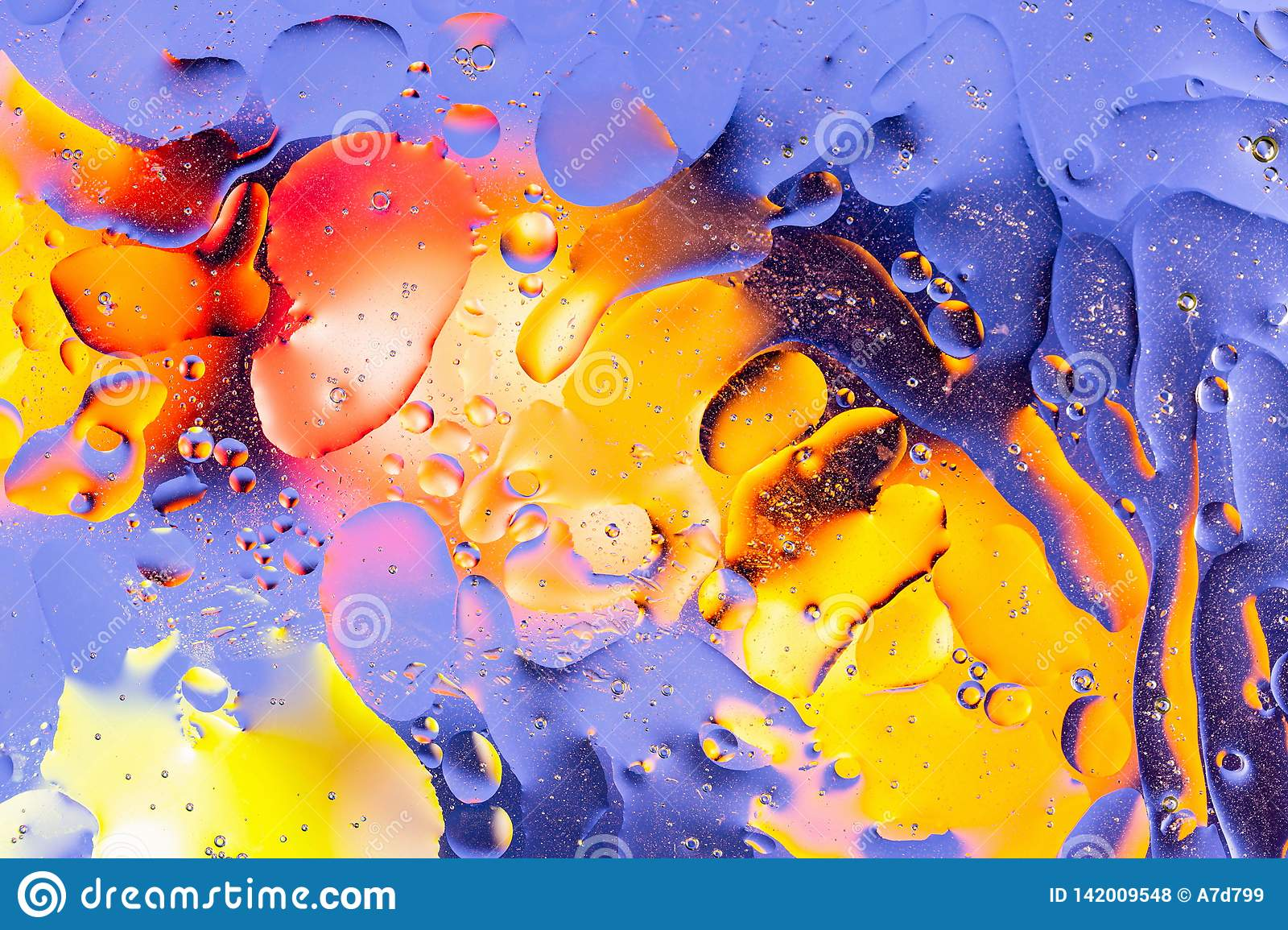 Red, orange, blue, yellow colorful abstract design, texture. Beautiful backgrounds.