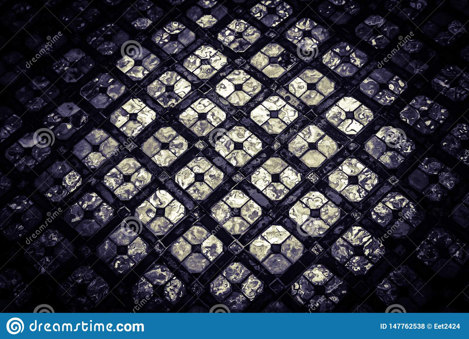 Beautiful closeup abstract texture color glass pieces  background and art design