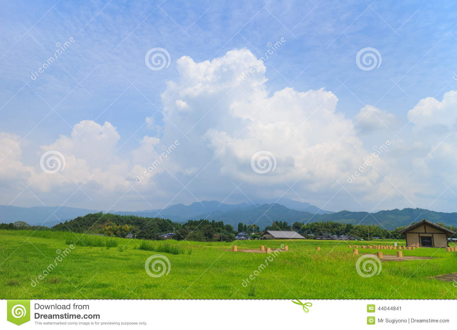 Beautiful cloud formation around Kikuchi Castle