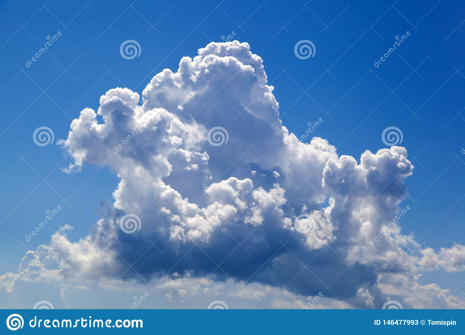 Beautiful clouds over the blue sky