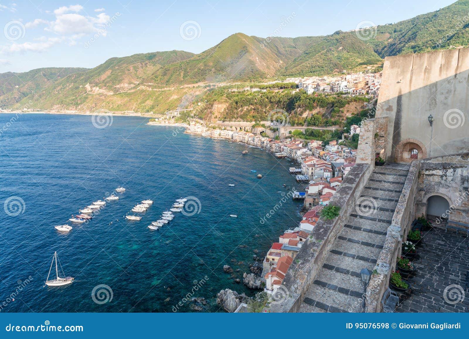 Beautiful coastline of Chianalea in Scilla, Calabria