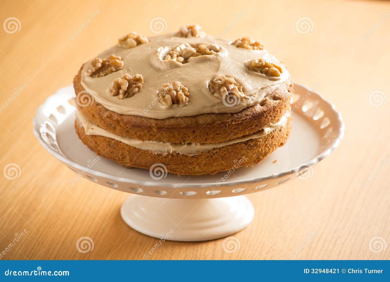 Coffee And Walnut Cake Marscapone