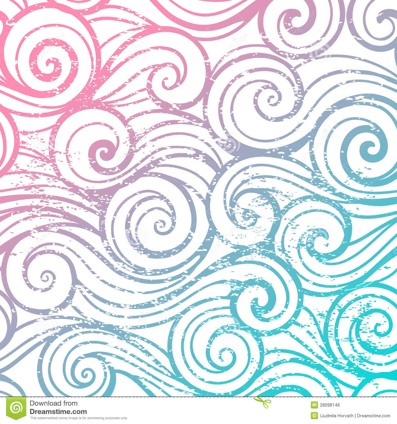 Beautiful Color Abstract Vintage Wave Pattern Royalty Free