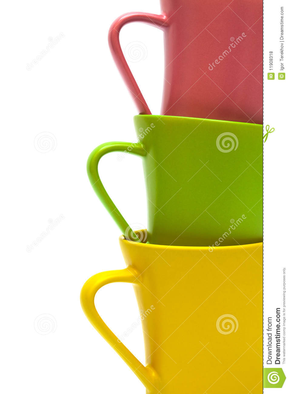 Beautiful Color Cups Royalty Free Stock Photos Image