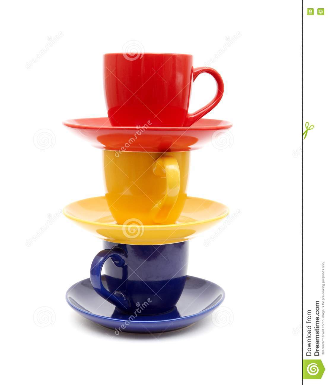 Beautiful Color Cups Stock Photo Image 17643950
