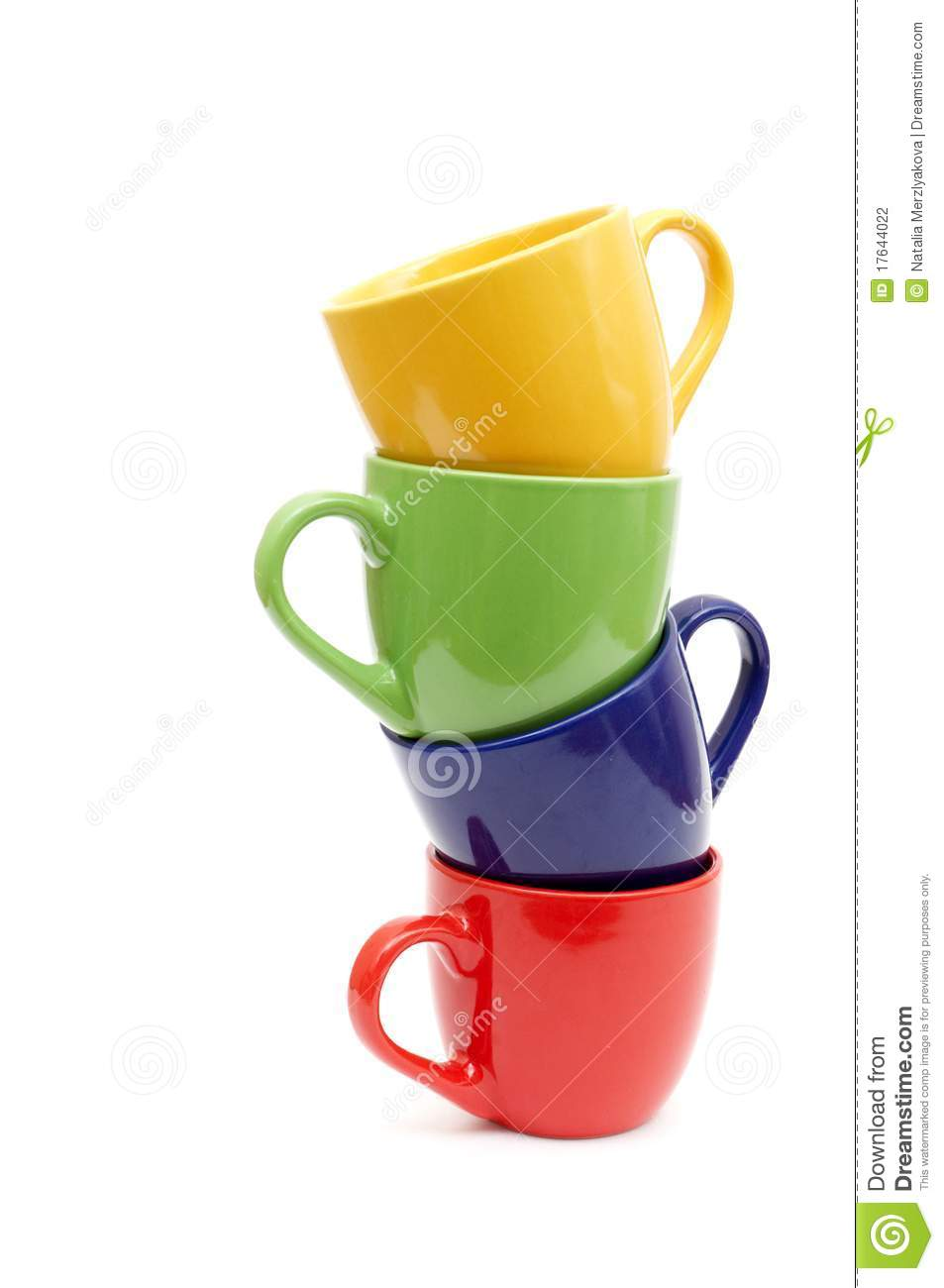 Beautiful Color Cups Stock Photography Image 17644022