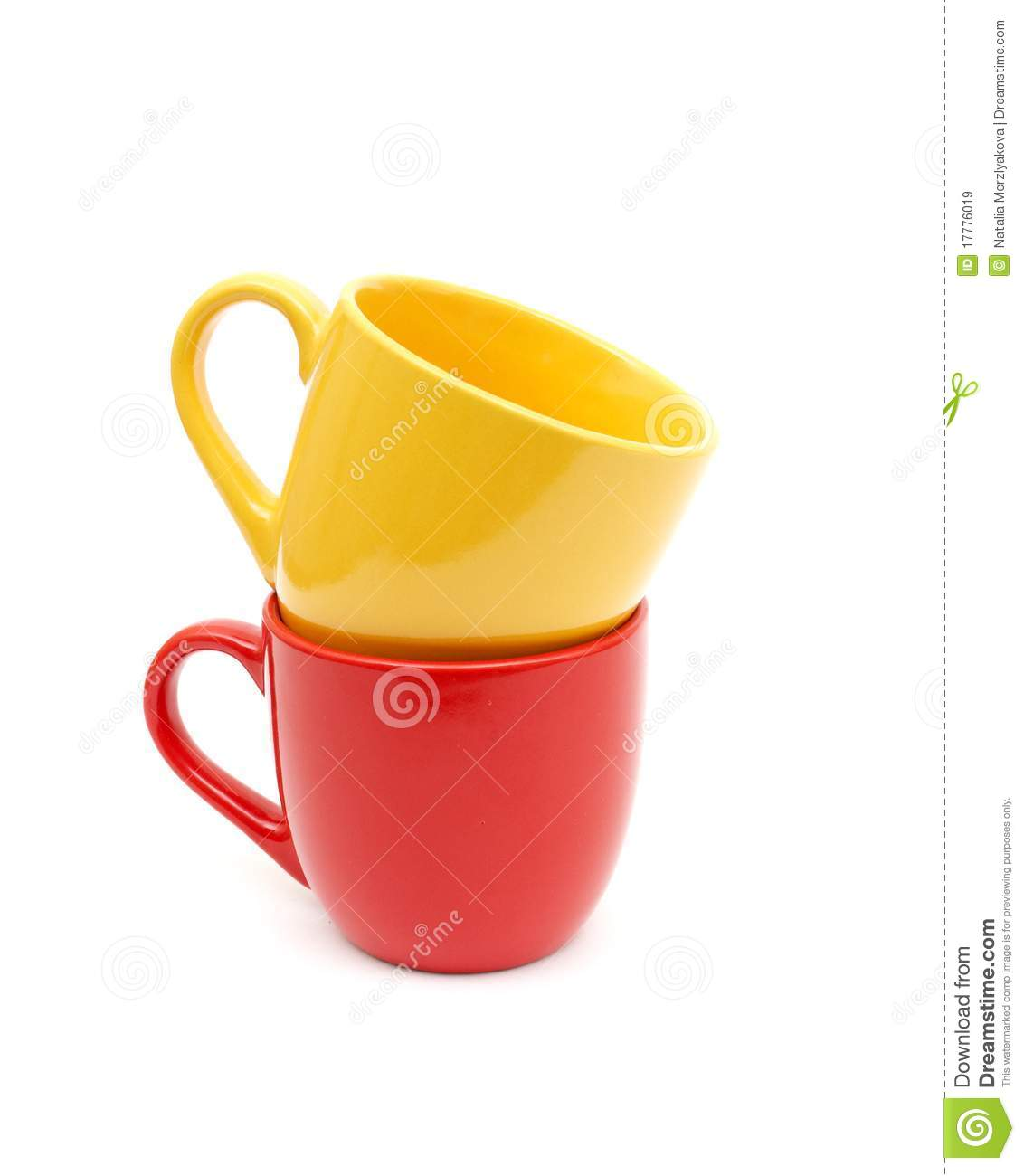 Beautiful Color Cups Royalty Free Stock Images Image