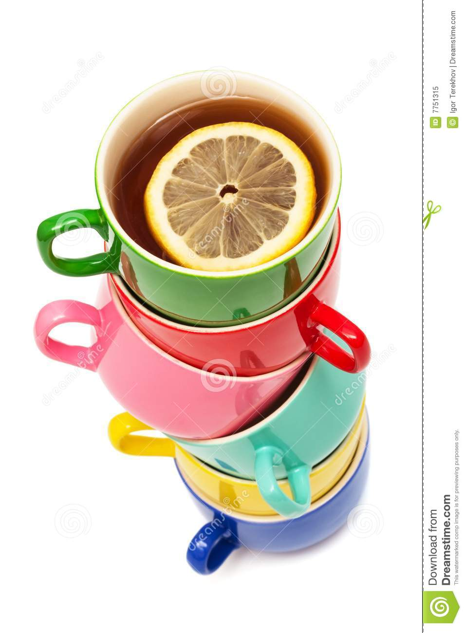 Beautiful Color Cups Royalty Free Stock Photo Image 7751315