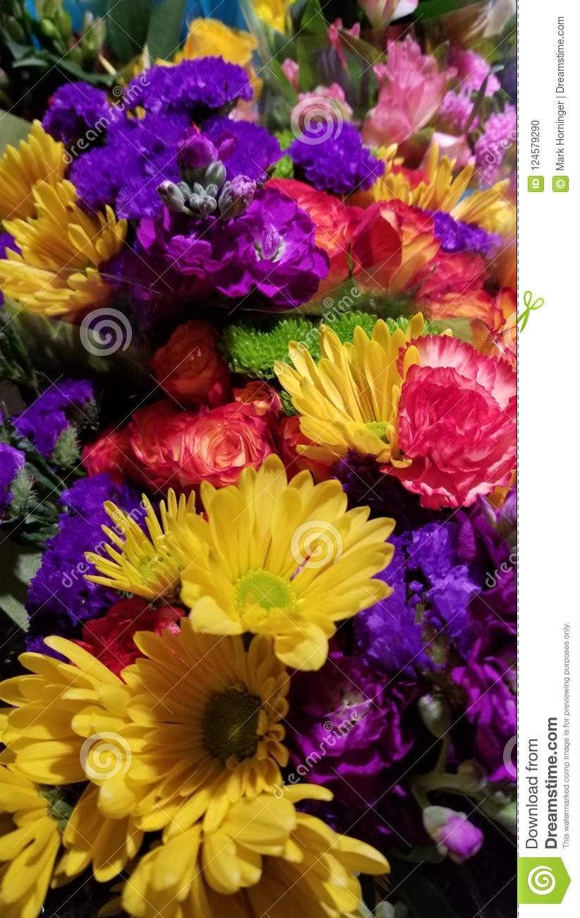 Beautiful Colorful Bunch Of Flowers Stock Photo Image Of