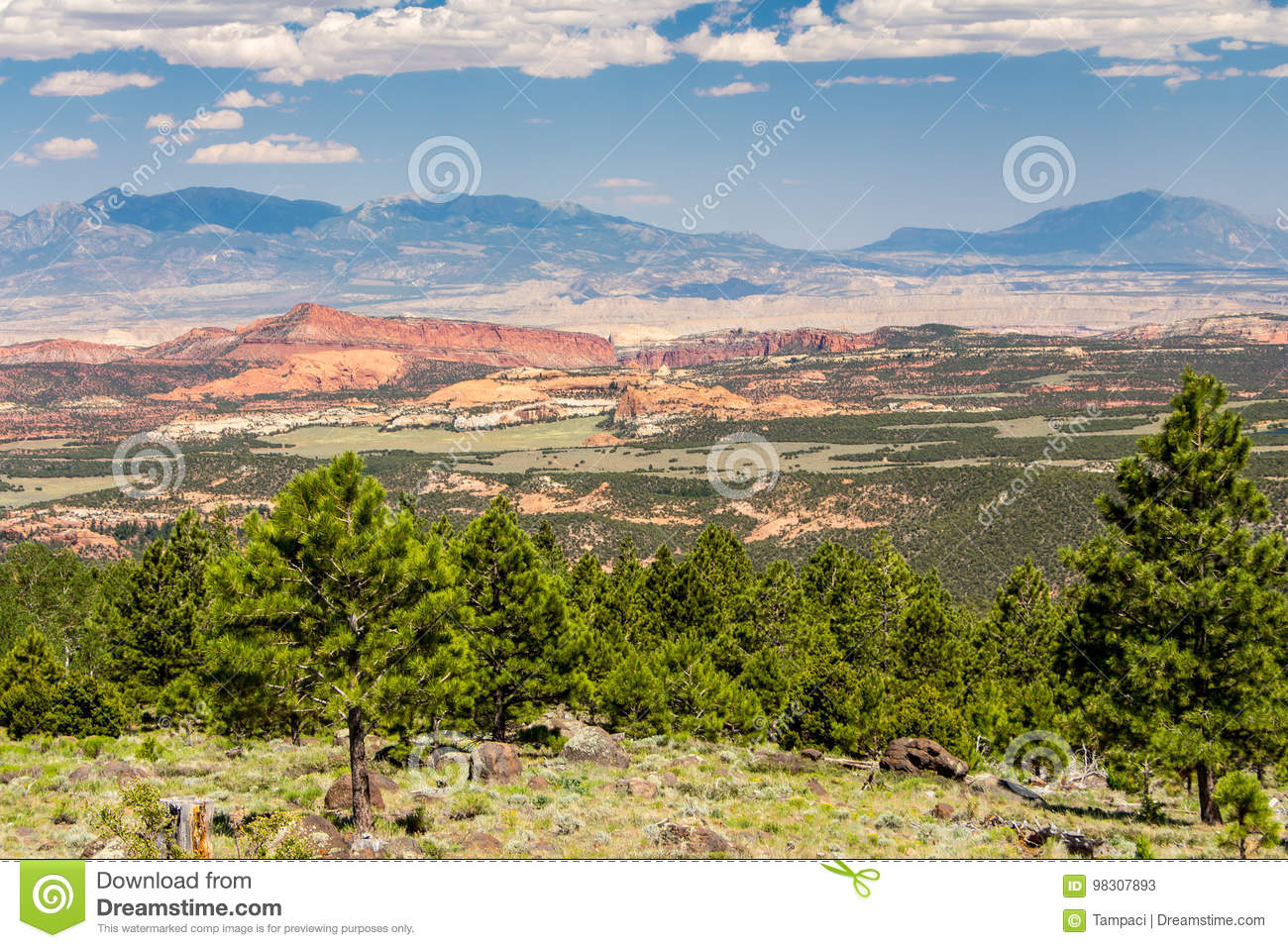 Beautiful, colorful landscape in Arizona - Beautiful, Colorful Landscape In Arizona Stock Image - Image Of