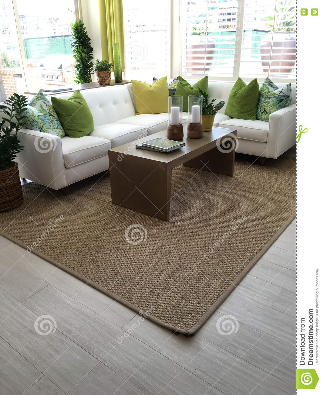 Beautiful Colorful Living Room Stock Photo Image Of Livingroom