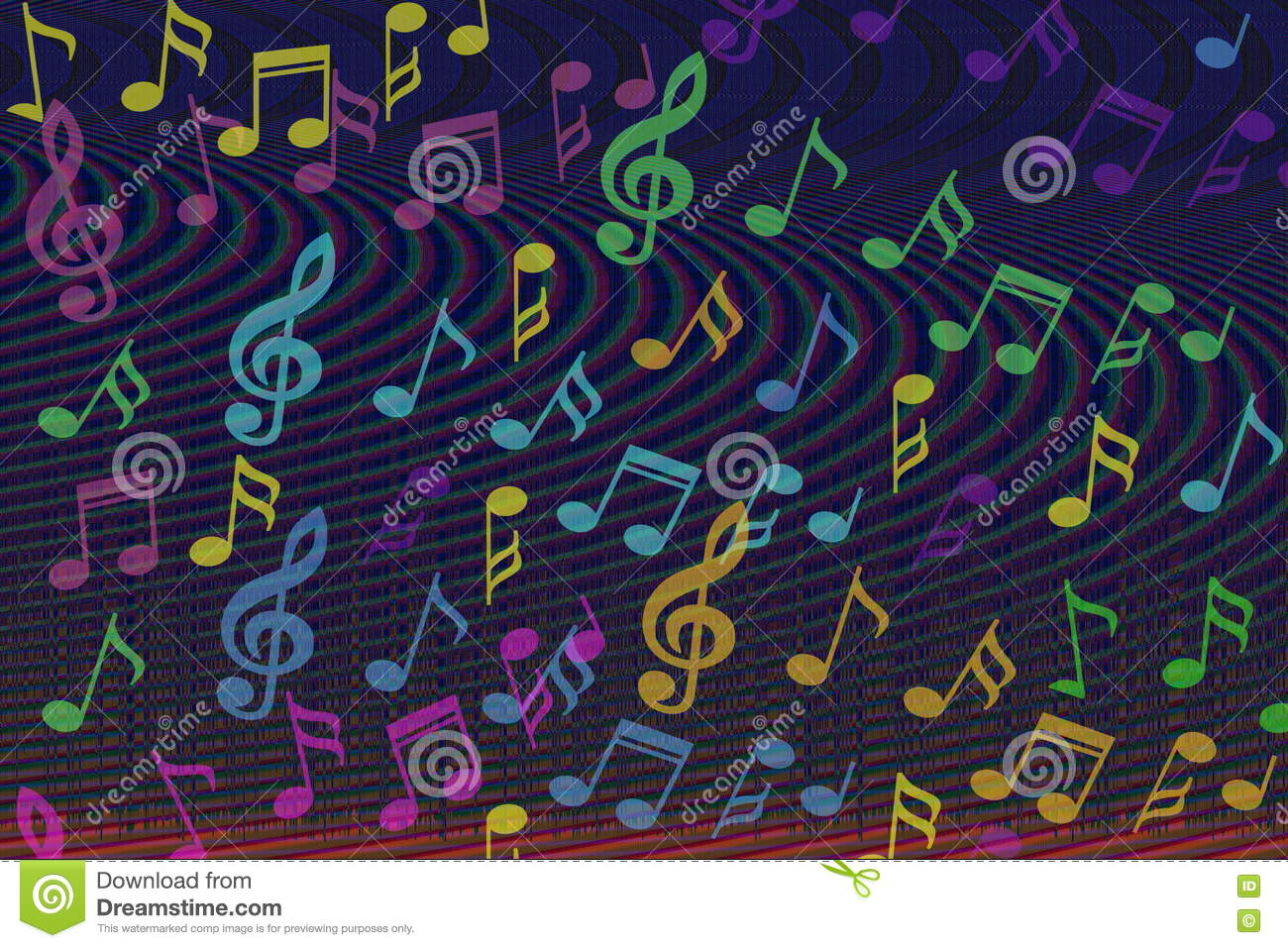 Colorful sheet music