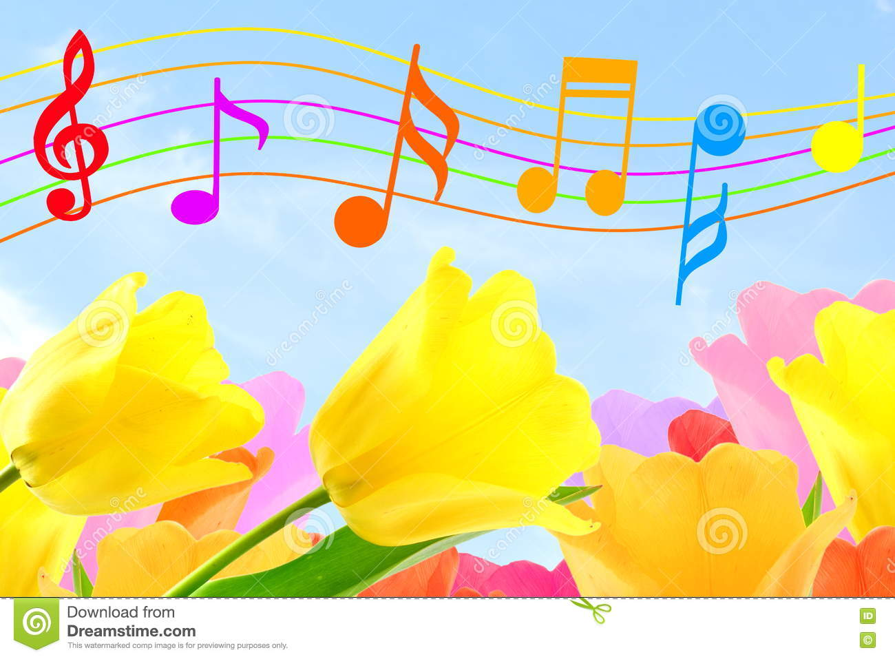 Colorful Music Notes Stock Images - Download 1,013 Photos