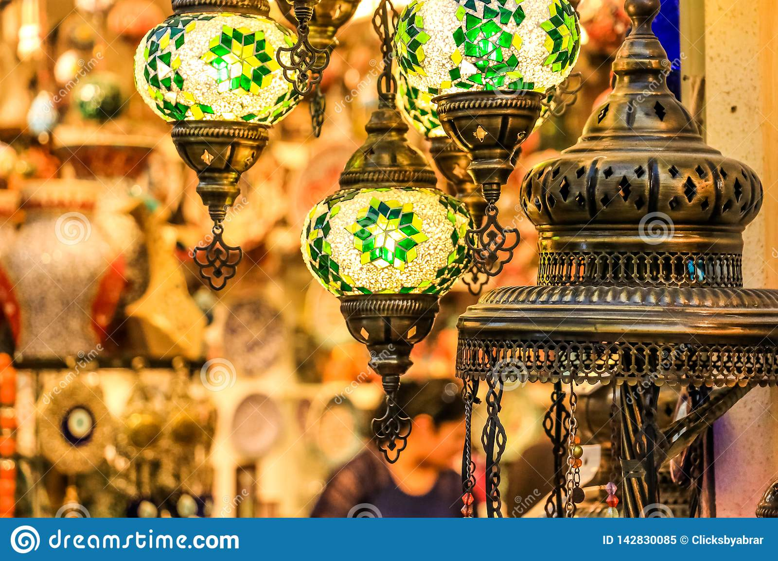 Traditional Bright Decorative Hanging Turkish Lamps And ...