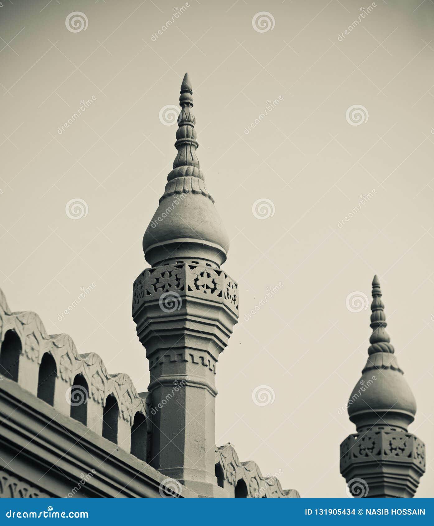 two minarets of a mosque unique photo