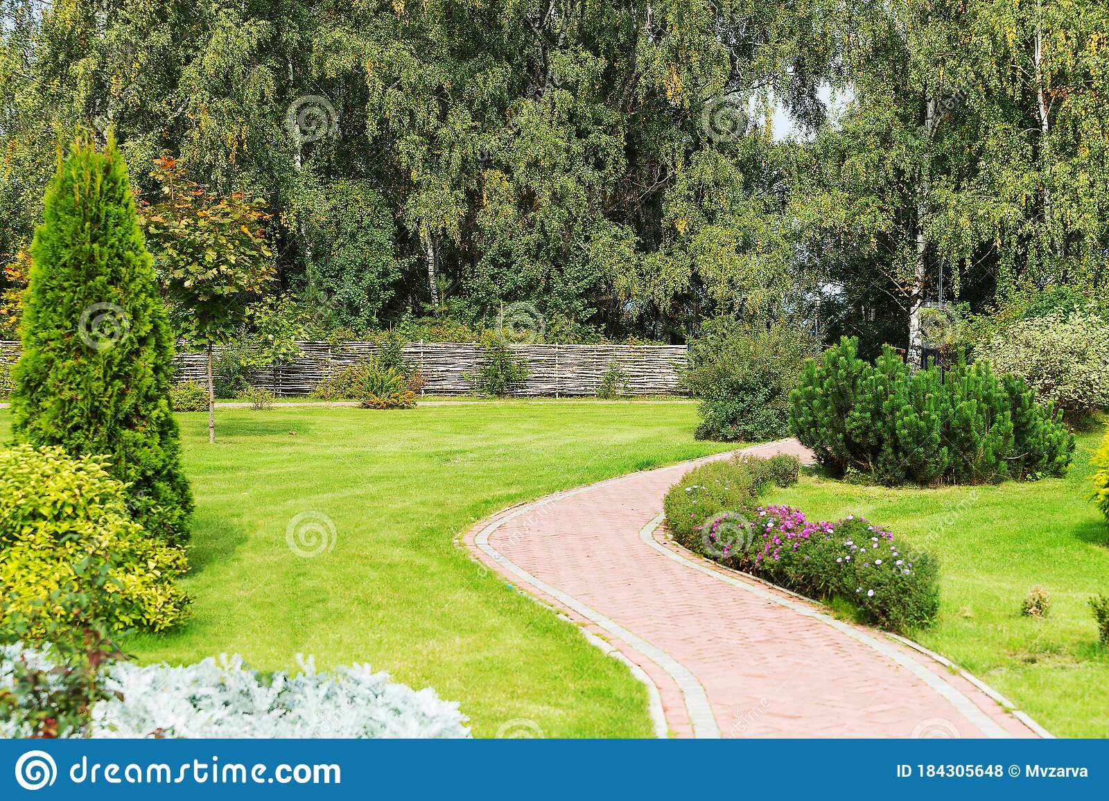 Beautiful Corner Of Nature With A Path And A Fence Stock Photo Image Of Heat River 184305648