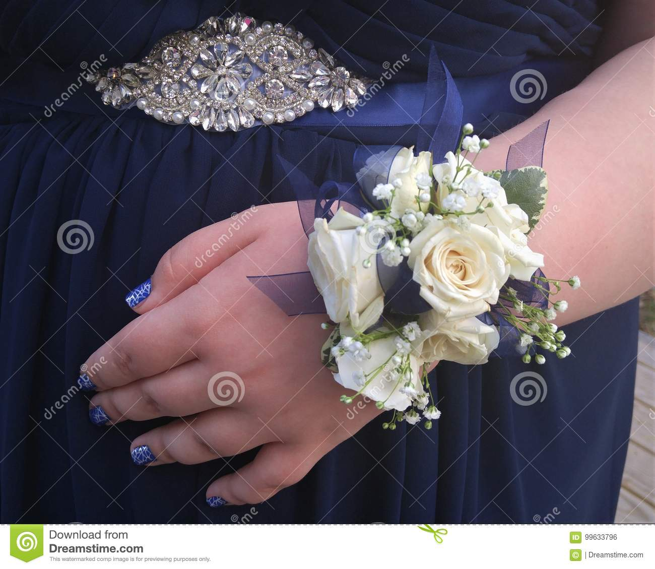 Prom Flowers Stock Photo Image Of Young Girl White 99633796