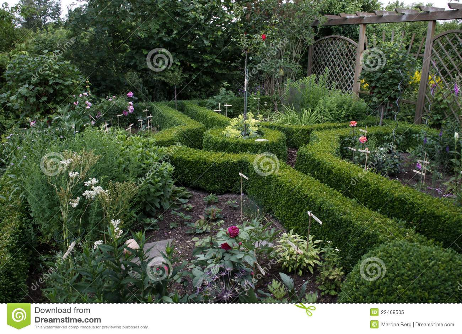 Beautiful Cottage Garden Royalty Free Stock Photo Image