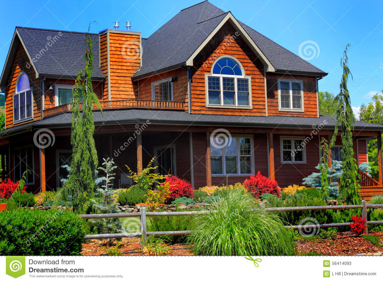 Beautiful country home stock image image of craftsmanship for Beautiful country homes