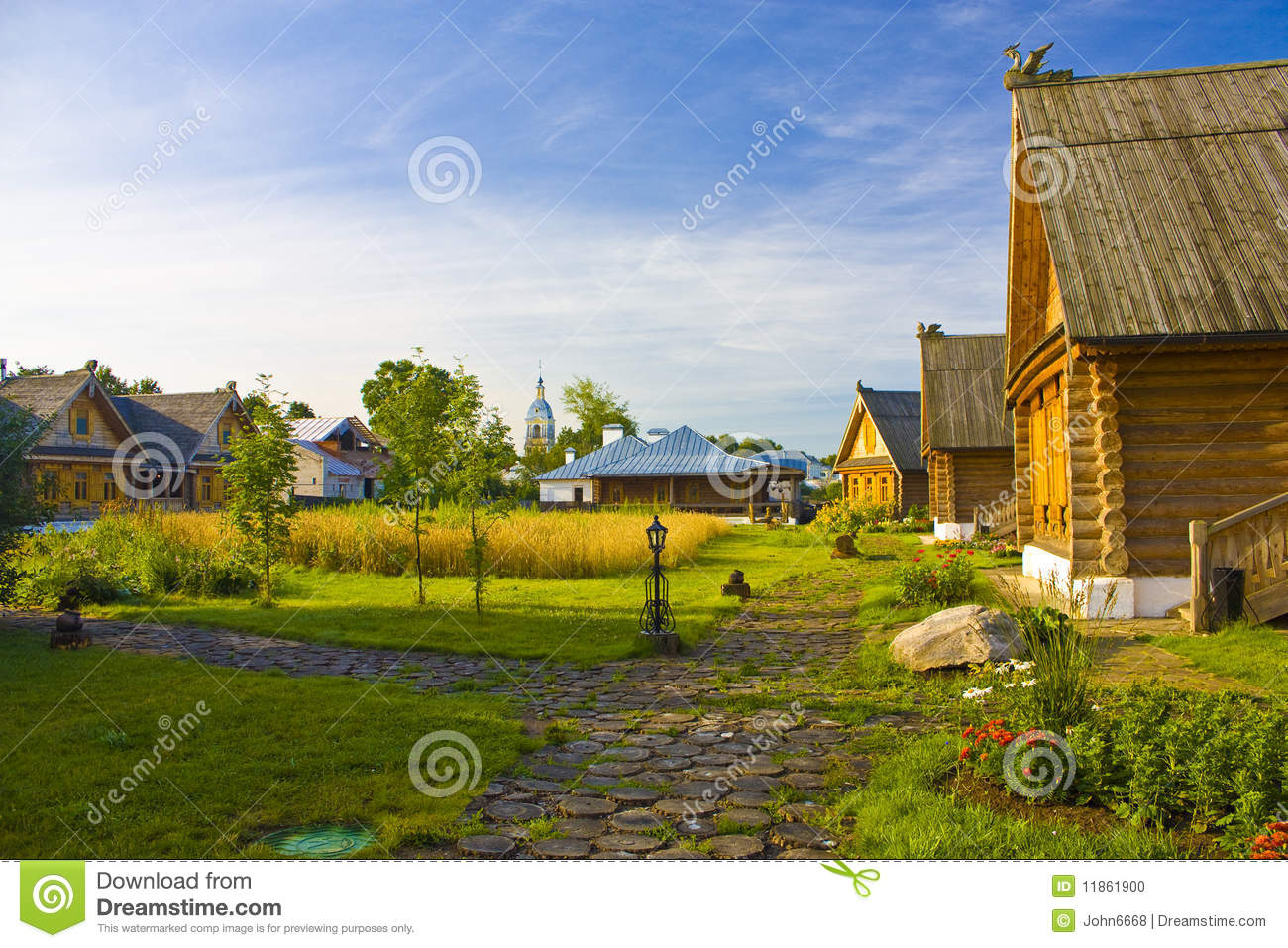 Beautiful Country House Stock Photo Image 11861900
