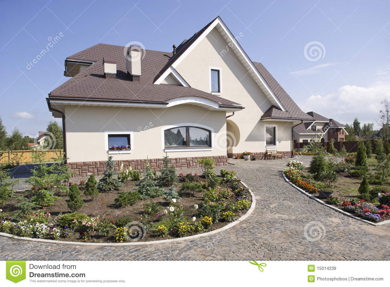 Beautiful Country House Stock Image Of Outside
