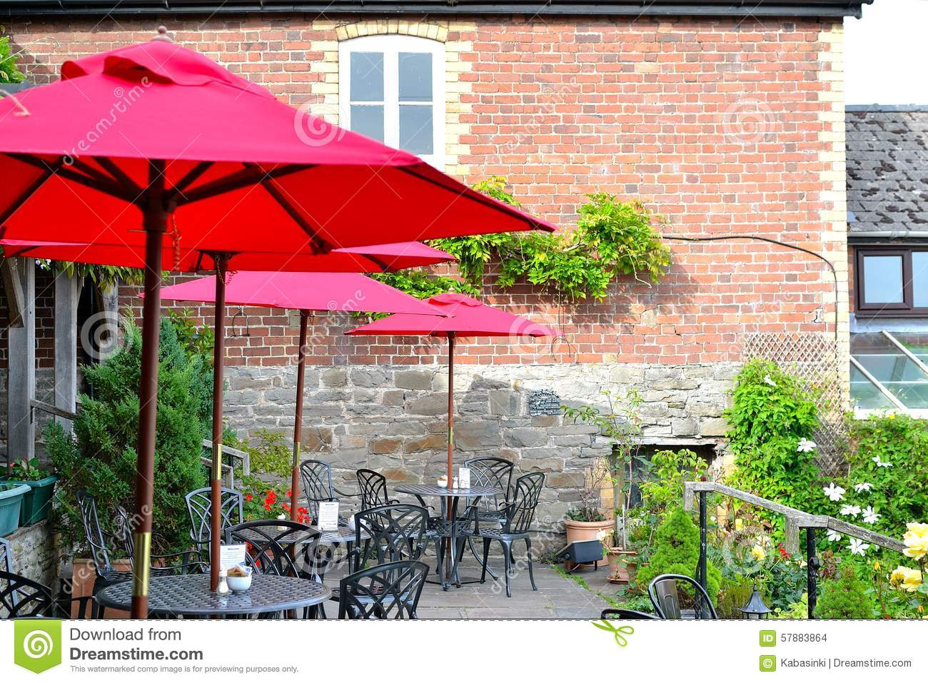 Beautiful countryside cafe in england stock photo image 57883864 - Countryside dream gardens ...