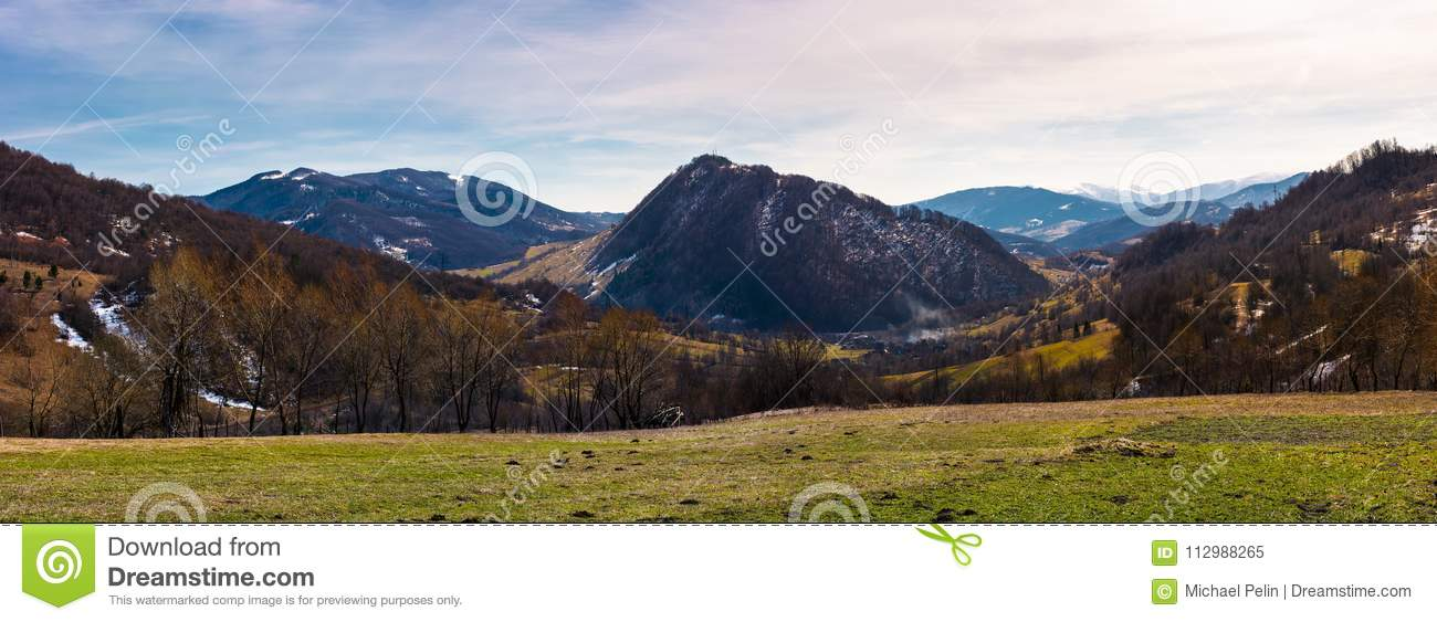 Beautiful countryside panorama in springtime