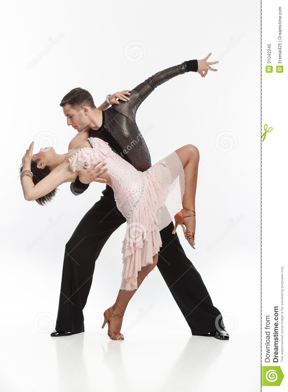 Beautiful Couple In The Active Ballroom Dance Royalty Free Stock Photo ...