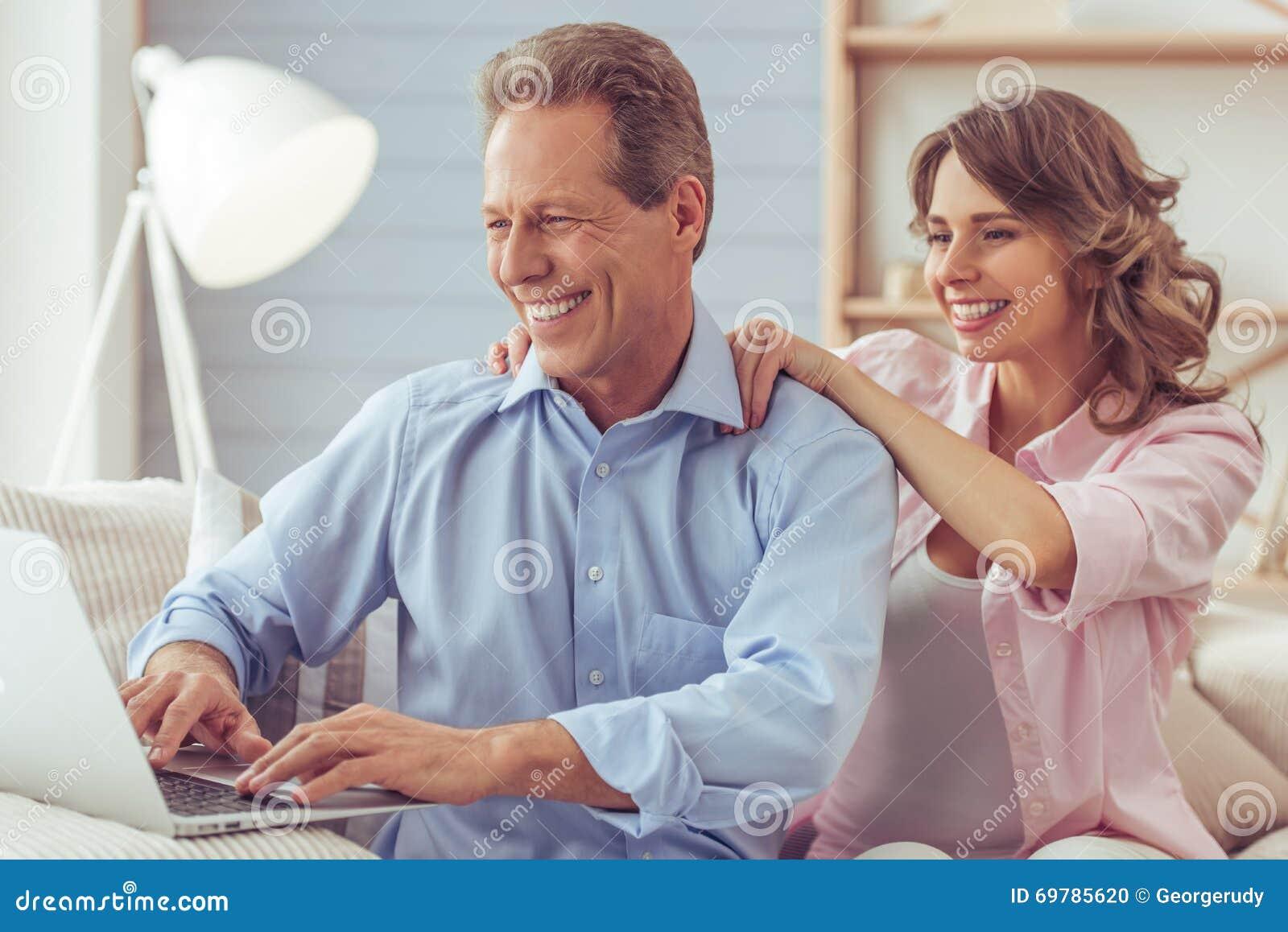 Mature home massage