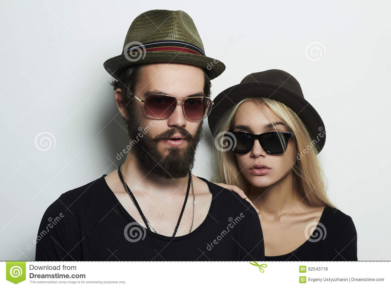 Fashion Beautiful Couple Together Stock Photography ...