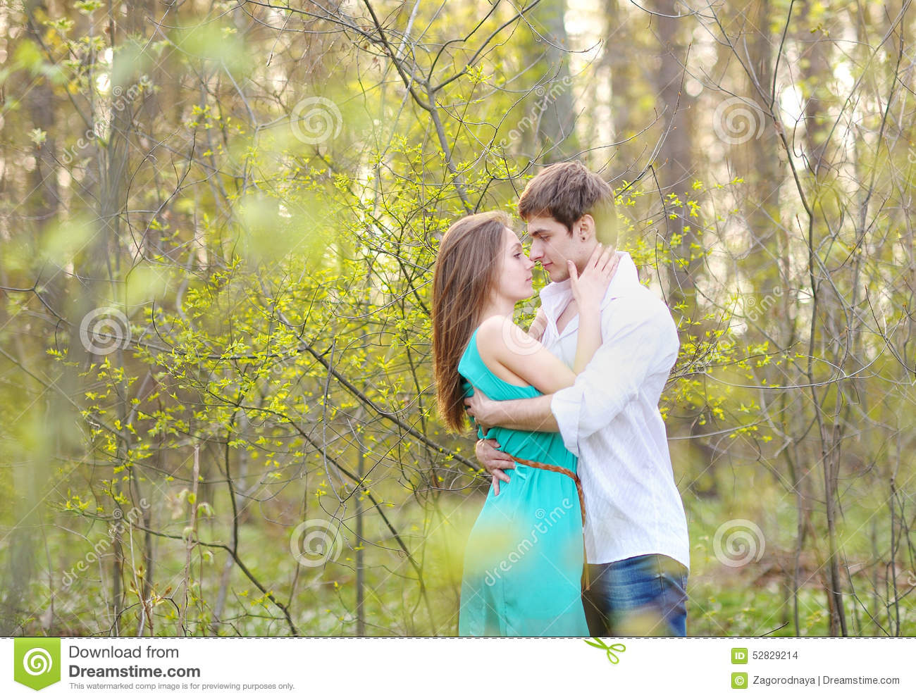 Beautiful Couple in love on summer