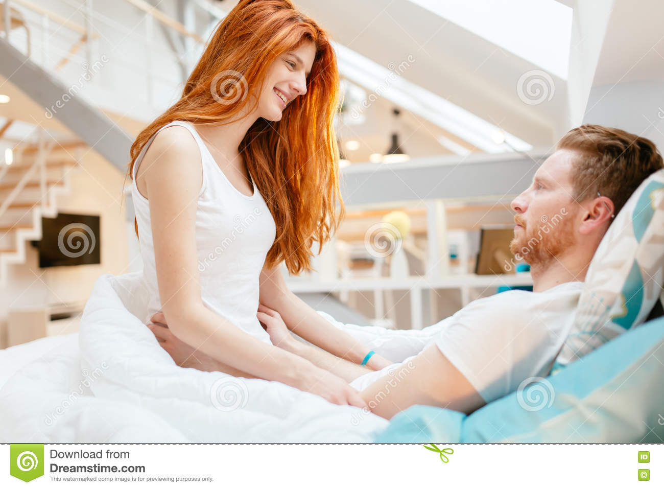 Royalty Free Stock Photo  Download Beautiful Couple Romance In Bed. Beautiful Couple Romance In Bed Stock Photo   Image  69871375