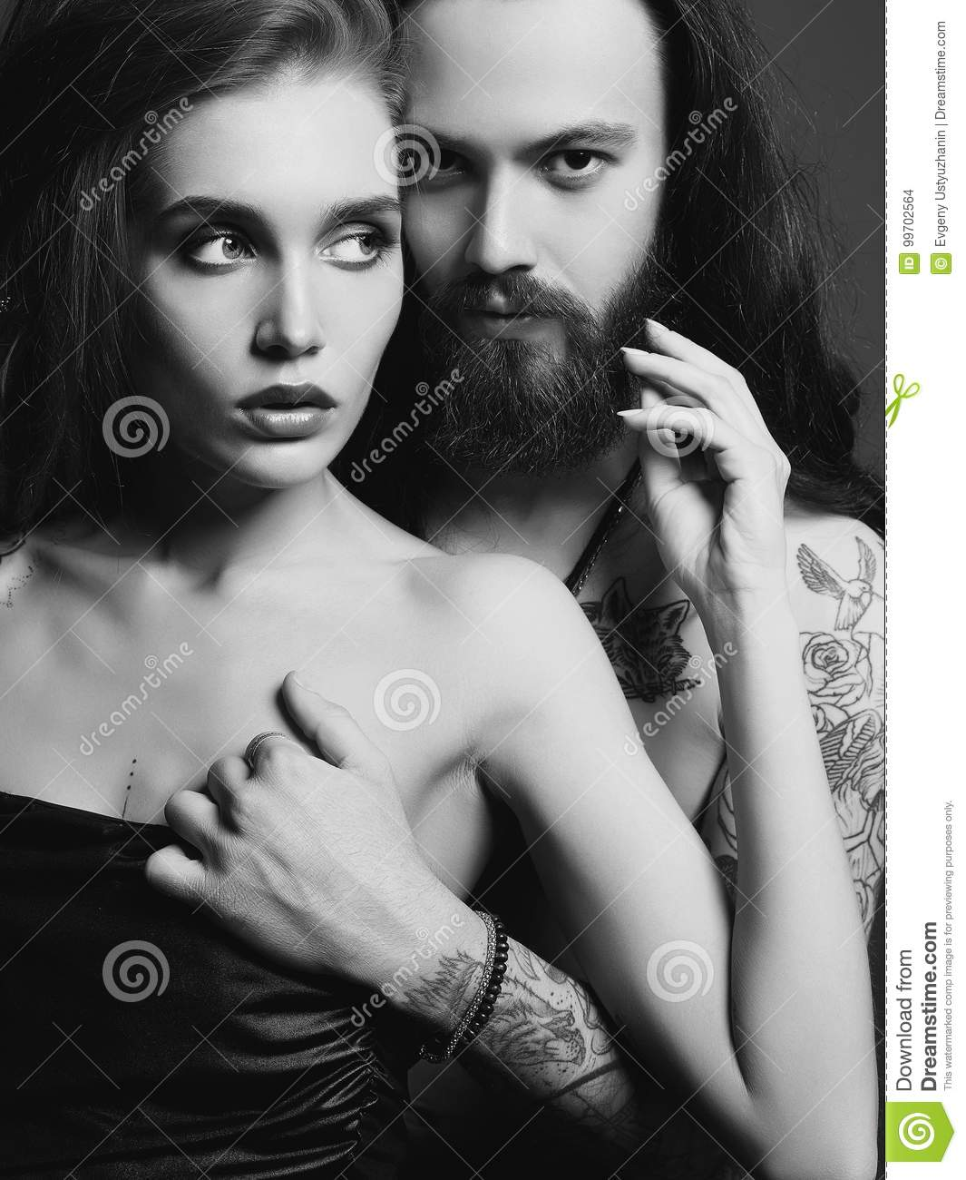 Sexy woman and boy